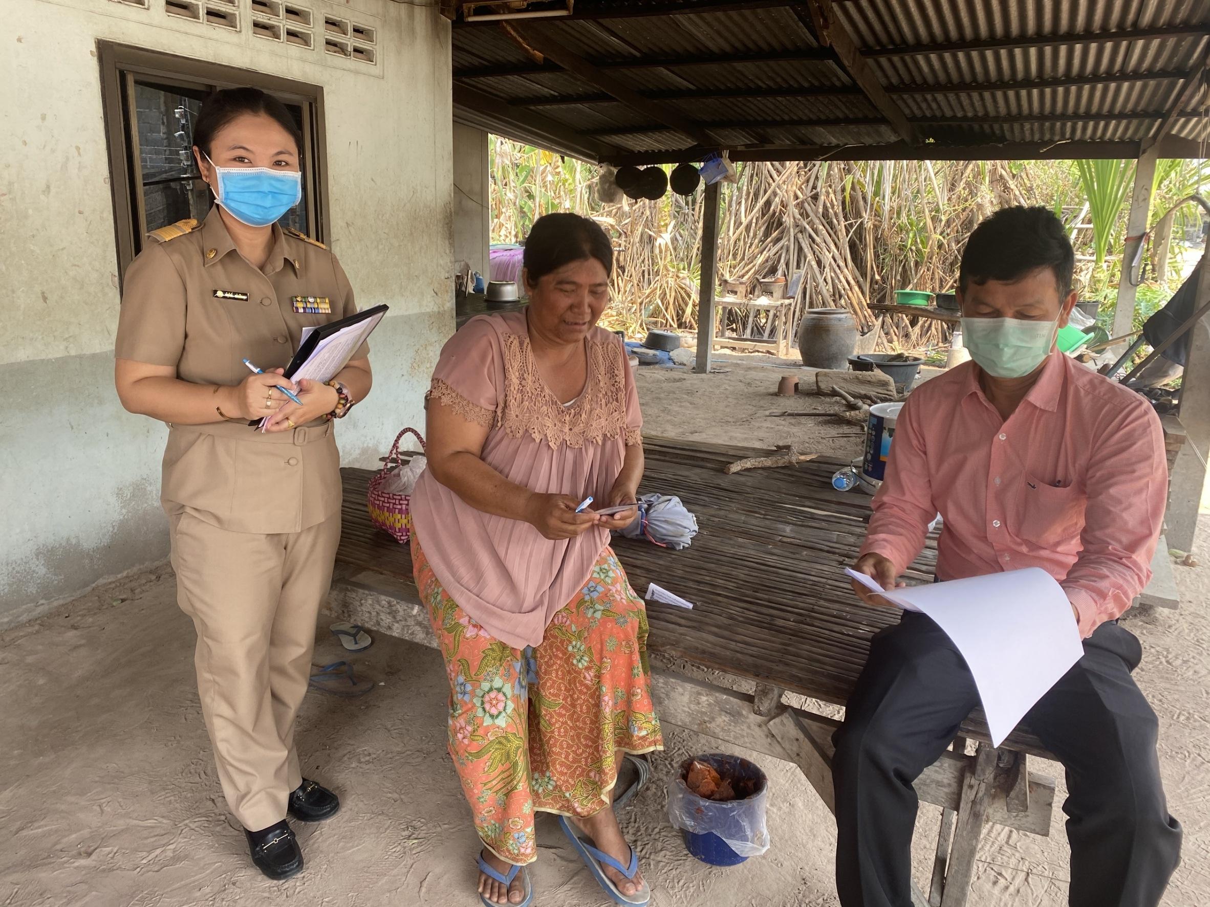 บูรณาการตรวจเยี่ยมแรงงานไทยที่เดินทางกลับจากประเทศเสี่ยงต่อการติดเชื้อ และแพร่ระบาดของโรคไวรัส COVID-19 จังหวัดศรีสะเกษ